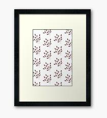 Pink Leaf Pattern Framed Print