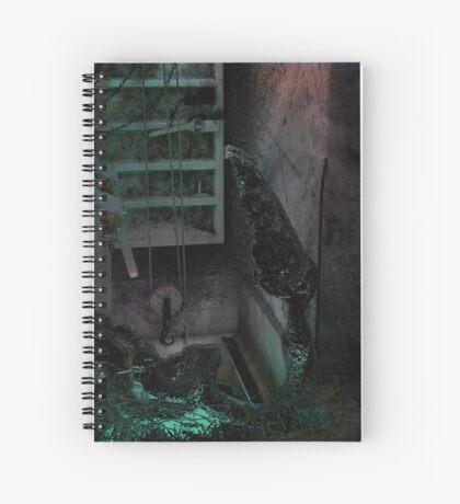 Creature in the dark Spiral Notebook