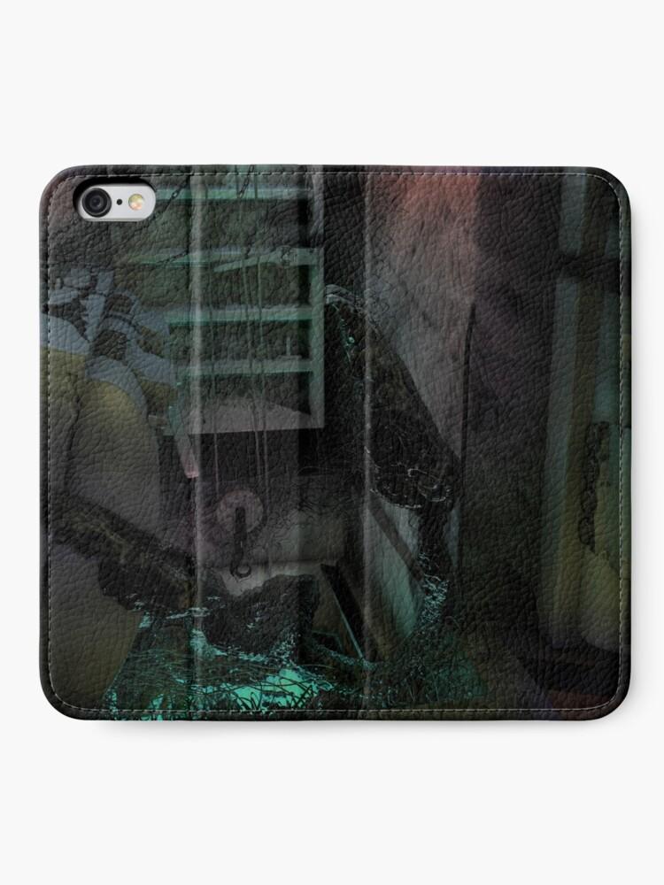 Alternate view of Creature in the dark iPhone Wallet