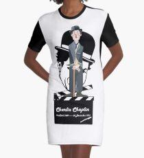 ***Ltd Edition: retro art charlie chaplin Graphic T-Shirt Dress