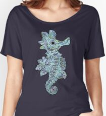 Tropical Seahorse Illustration Women's Relaxed Fit T-Shirt