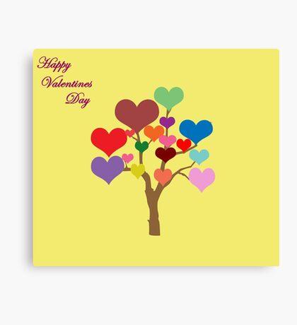 Tree of Hearts (Happy Valentines) Canvas Print