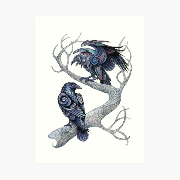 Hugin and Munin Art Print