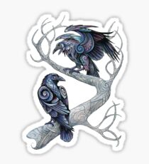 Hugin and Munin Sticker