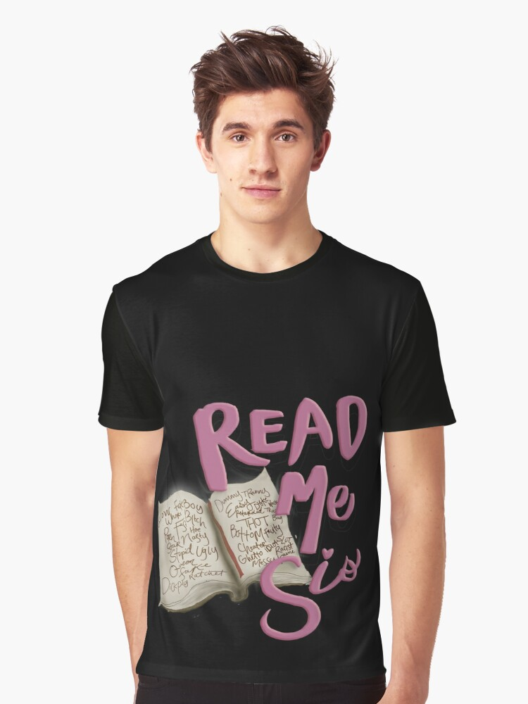 Read Me Sis Graphic T-Shirt Front