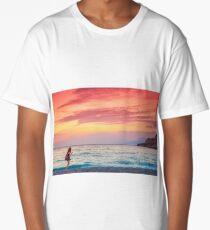 Girl at sunset Long T-Shirt