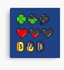Video Game Stats Canvas Print