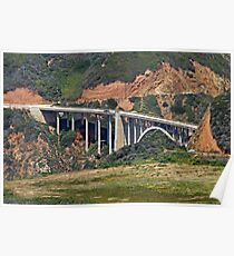 Bixby Bridge, Big Sur, California Poster