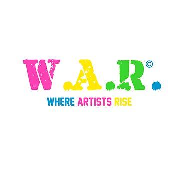 "W.A.R. Logo ""Neon"" by WARMERCH"