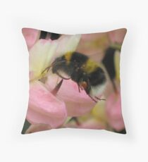 Pink Lupin With Guest Throw Pillow