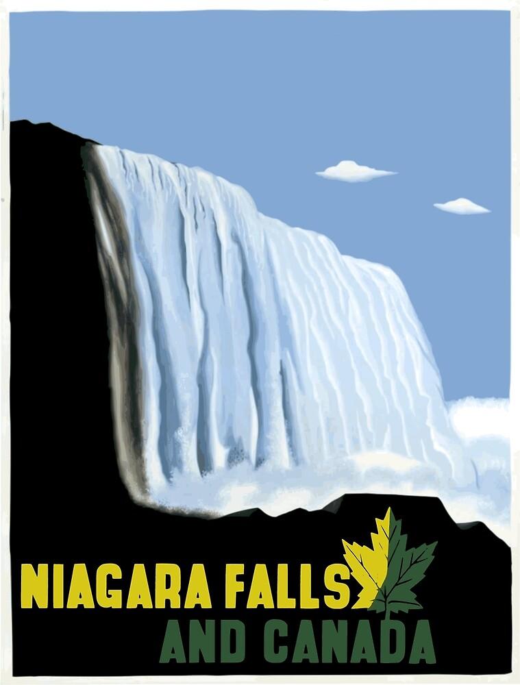 Vintage Canada and Niagara Falls Travel by pdgraphics