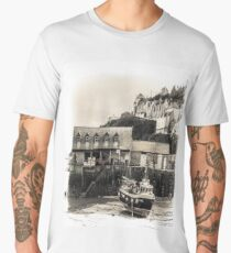 Harbour Office and Boat - Cornwall Men's Premium T-Shirt