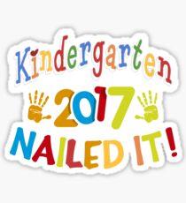 Kindergarten Daycare Preschool 2017 Graduation T-Shirt Sticker
