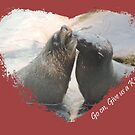 Give Us A Kiss (Seal Valentine)  by CreativeEm