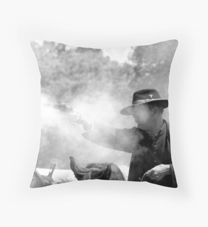 In the Thick of Battle Throw Pillow