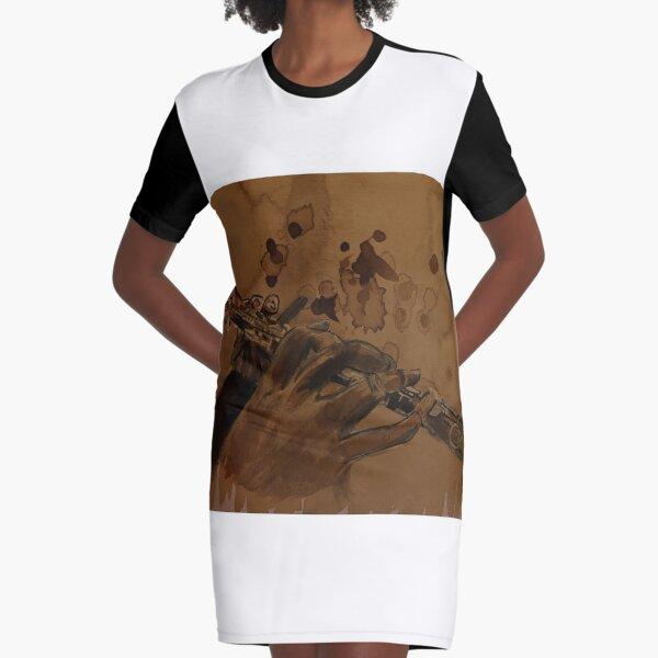 Coffee Flute Graphic T-Shirt Dress