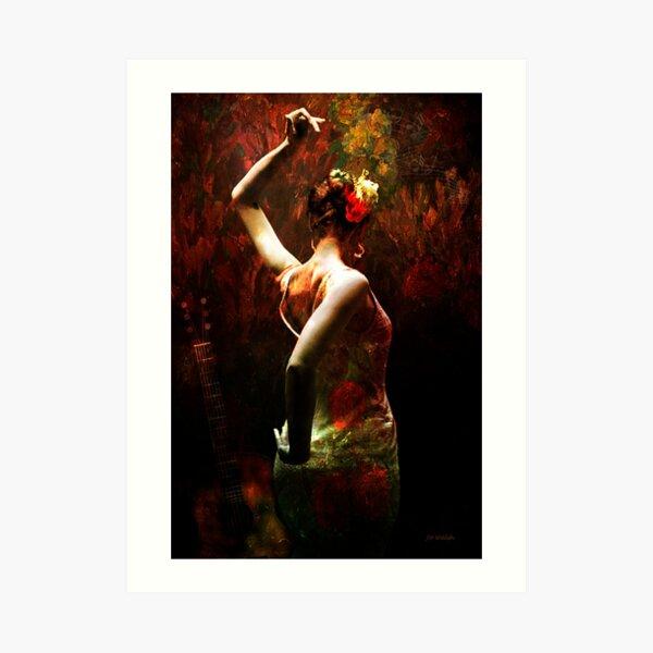 Flamenco - vibrant Spanish dancer Art Print