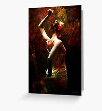 Flamenco Greeting Card