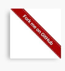 Fork me on Github Ribbon Red Canvas Print