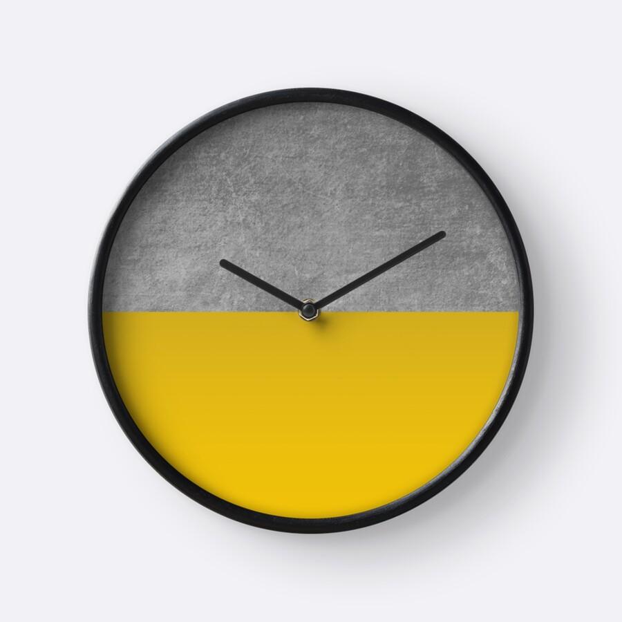 Concrete and Mustard Color Block \