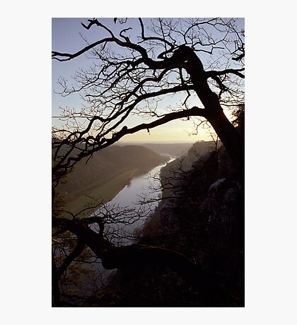 River Elbe, view from Bastei, Germany Photographic Print