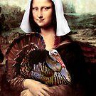 Mona Lisa Thanksgiving Pilgrim by Gravityx9