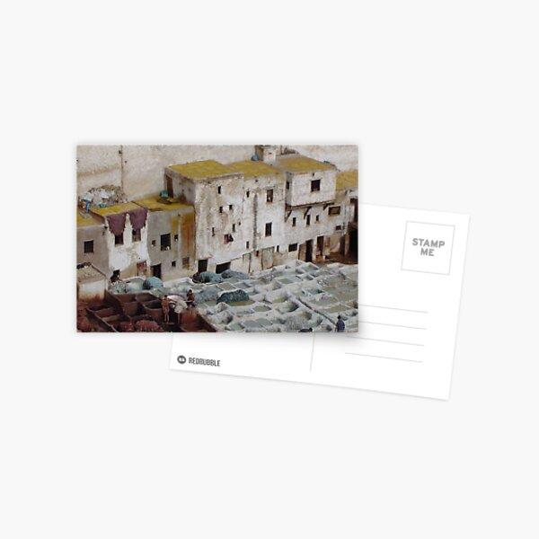 Tannerie à Fez Postcard