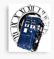 Tardis in the Vortex Canvas Print