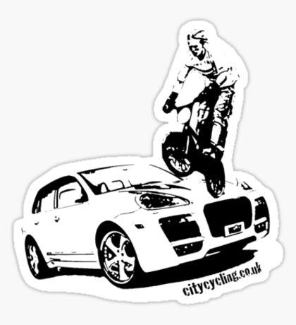 BMX versus SUV Sticker