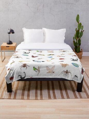 Bugs Throw Blanket