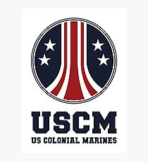 United States Colonial Marines - USCM Variant Photographic Print
