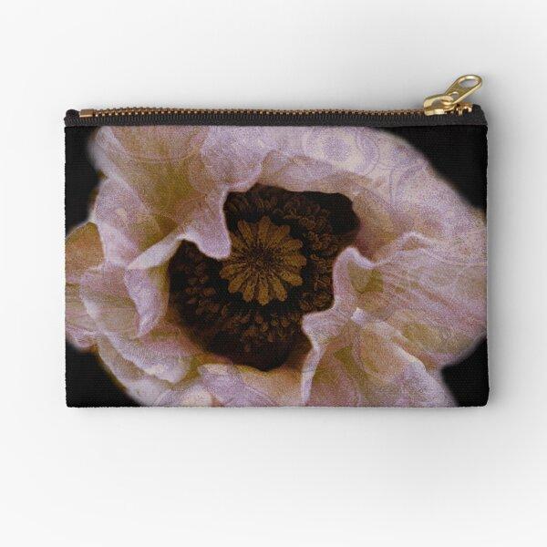 Flower pillows & Art- Consolation- A poppy for Shelley Zipper Pouch