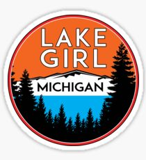 LAKE GIRL GREAT LAKES MICHIGAN ERIE HURON SUPERIOR SAINT CLAIR Sticker