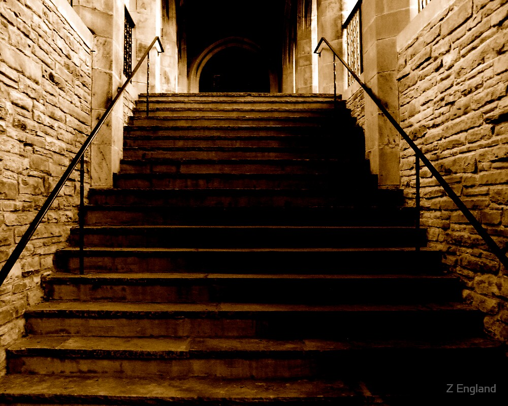 The Stairs in Church Street by Z England