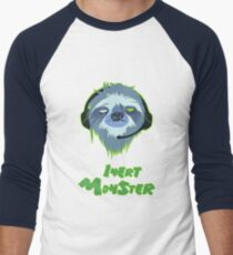 Inert Monster Men's Baseball ¾ T-Shirt