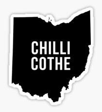 Chillicothe, Ohio Silhouette Sticker