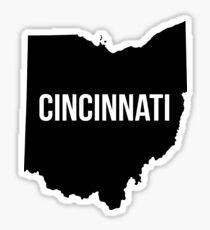 Cincinnati, Ohio Silhouette Sticker