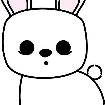 Cute Pet Bunny Rabbit Blanc de Hotot by meetminnie