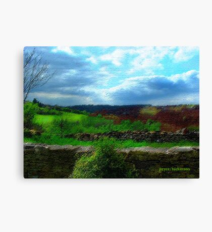 Farmer's Fence at Westley Canvas Print