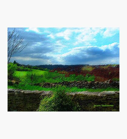 Farmer's Fence at Westley Photographic Print