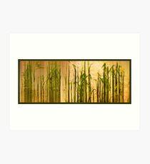 Grassland Abstract Panel Art Print