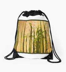 Grassland Abstract Panel Drawstring Bag