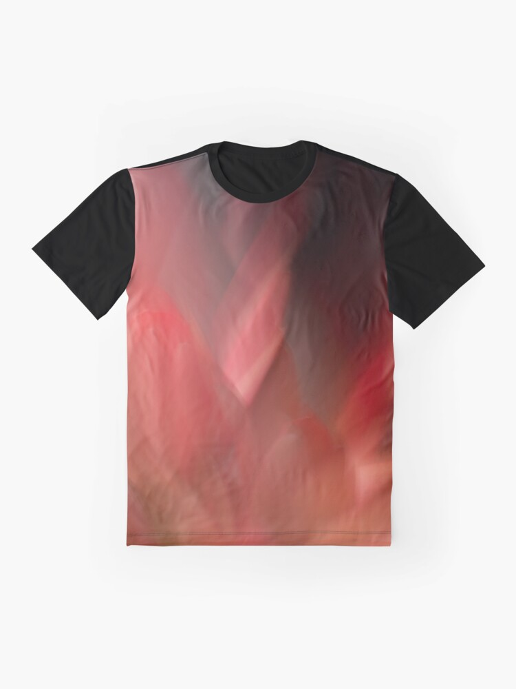 Alternate view of Fleur Blur-Abstract Red Leaves Photo Graphic T-Shirt