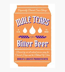 Male Tears Bitter Beer - Can Photographic Print