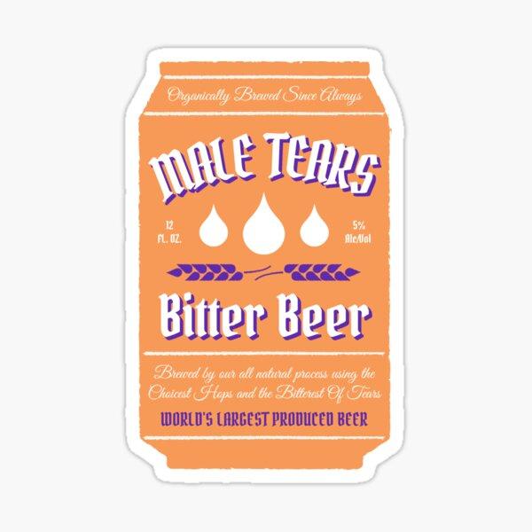 Male Tears Bitter Beer - Can Sticker