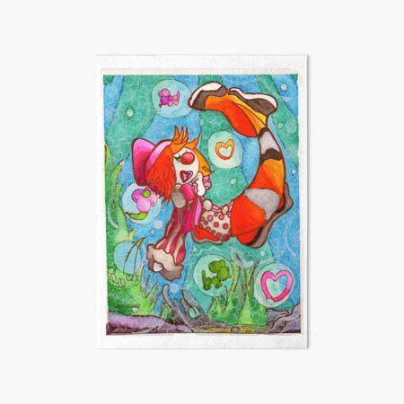 Under The Sea Art Board Print