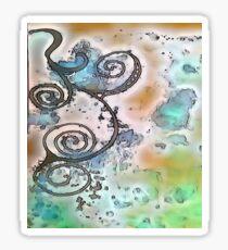 Vintage Swirl Sticker