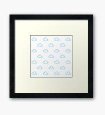 Adorable Cloud Pattern Framed Print