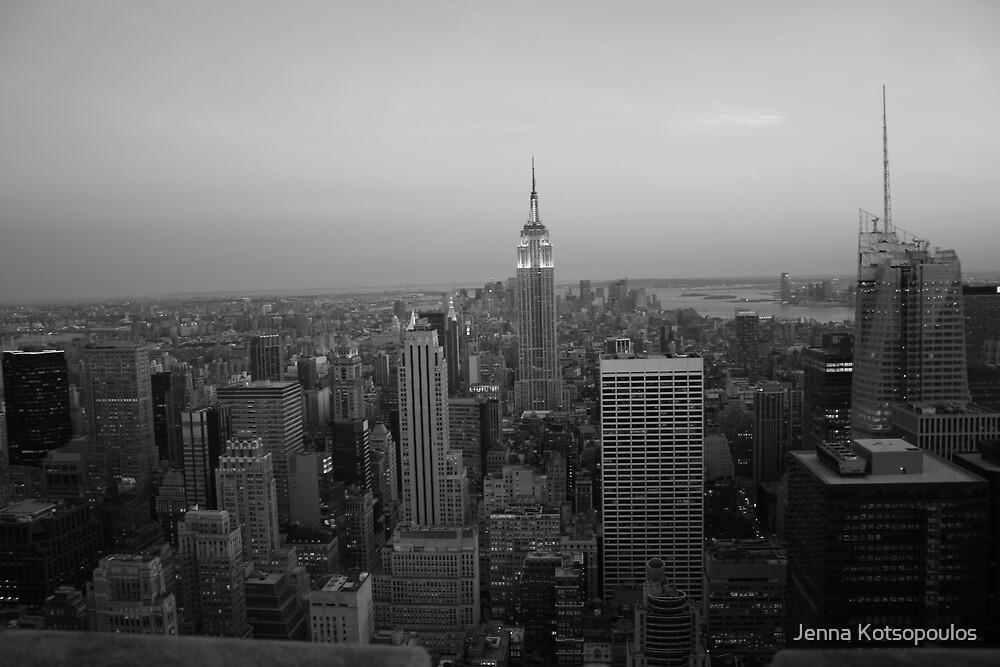 b/w city that never sleeps by Jenna Kotsopoulos