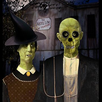 American Gothic Halloween by Gravityx9